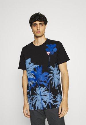 WINDSWELL TEE - Print T-shirt - jet black
