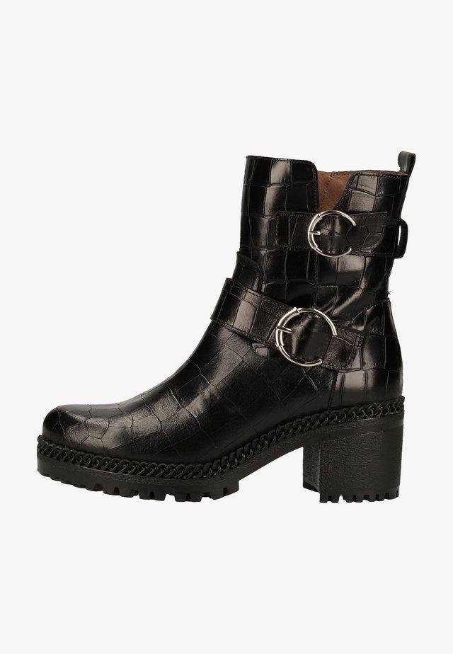 Cowboy/biker ankle boot - black