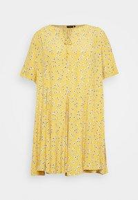 Zizzi - XANA KNEE DRESS - Korte jurk - golden yellow - 3