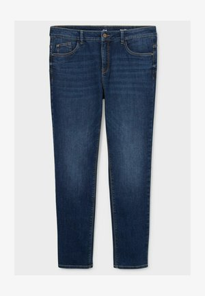 Straight leg jeans - denim-dark blue
