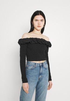 OFF SHOULDER  - Long sleeved top - black