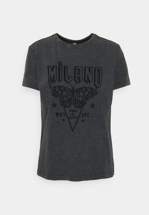 JDYBOUNTY LIFE PRINT - Camiseta estampada - washed black