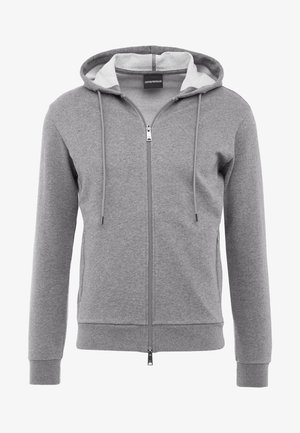 ZIPPED HOODIE  - Zip-up hoodie - grigio medio