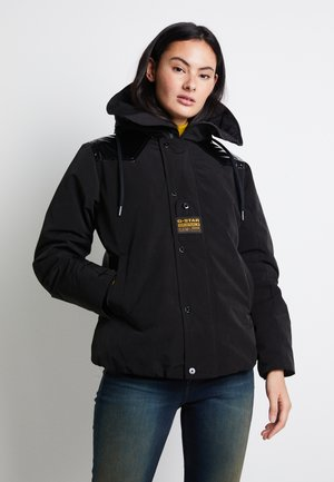 TECH PADDED HOODED MID - Winterjacke - dk black