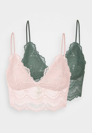 MIA 2 PACK - Brassière - green/pink