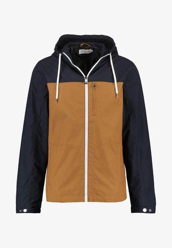 Summer jacket - dark blue / camel