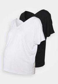 Anna Field MAMA - 2 PACK - T-shirt basic - white/black - 0