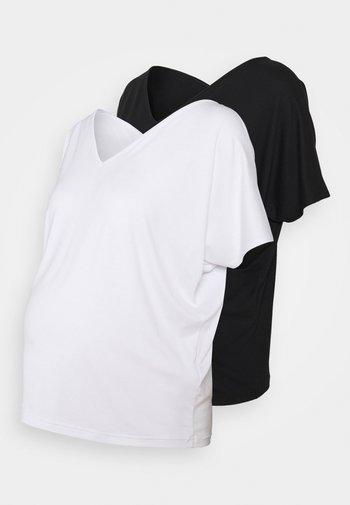 2 PACK - T-shirt basic - white/black