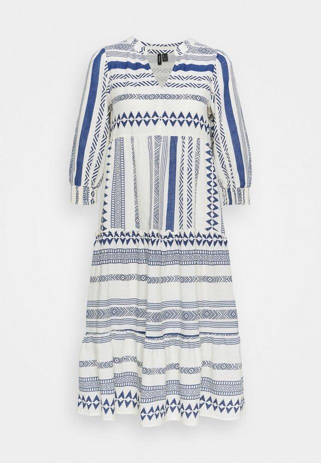 VMDICTHE CALF DRESS - Vestito estivo - birch/new dicthe/sodalite blue