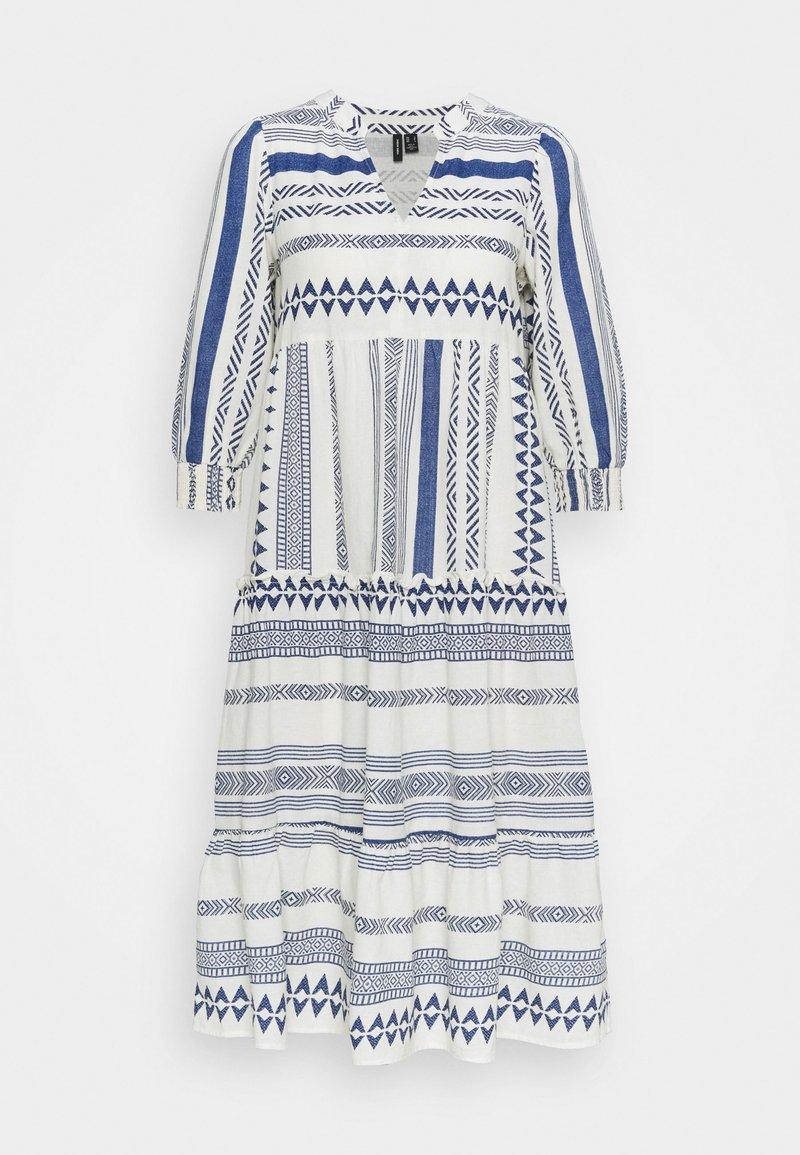 Vero Moda Petite - VMDICTHE CALF DRESS - Day dress - birch/new dicthe/sodalite blue
