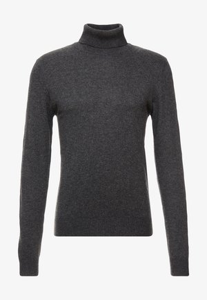 JJEEMIL ROLL NECK - Pullover - dark grey melange