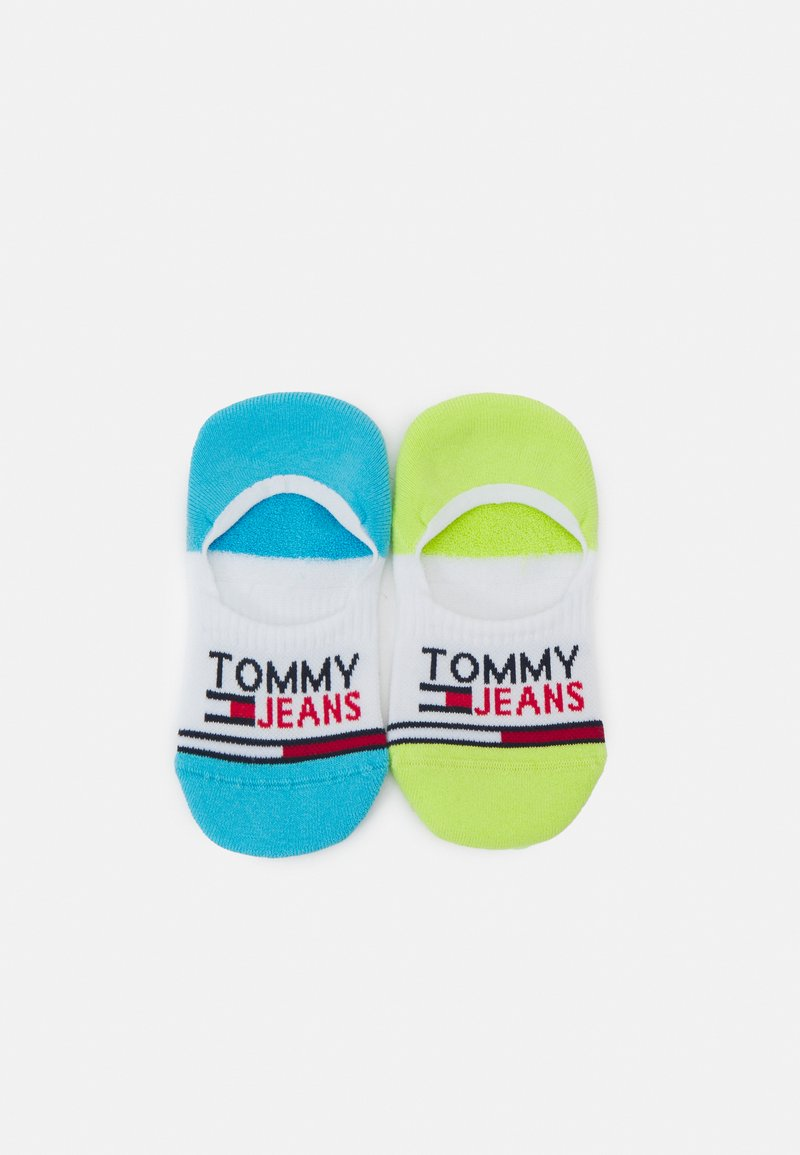 Tommy Jeans - NO SHOW MID CUT SOCKS 2 PACK UNISEX - Trainer socks - lime