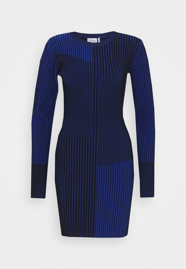 LONG SLEEVE MINI DRESS - Vestito estivo - sapphire
