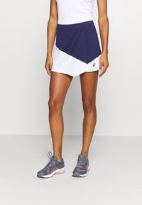 ASICS - CLUB SKORT - Sports skirt - peacoat/brilliant white - 0