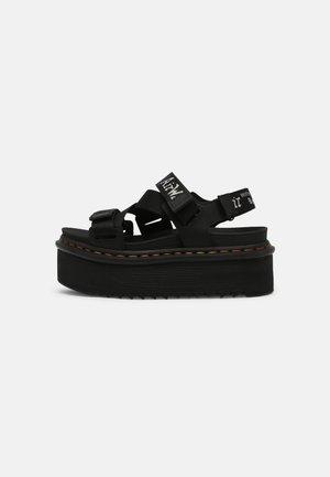 KIMBER - Sandále na platforme - black hydro/white/light grey