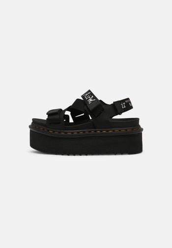KIMBER - Platform sandals - black hydro/white/light grey