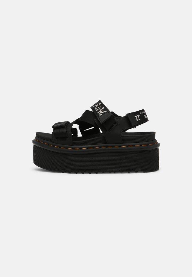 KIMBER - Sandales à plateforme - black hydro/white/light grey
