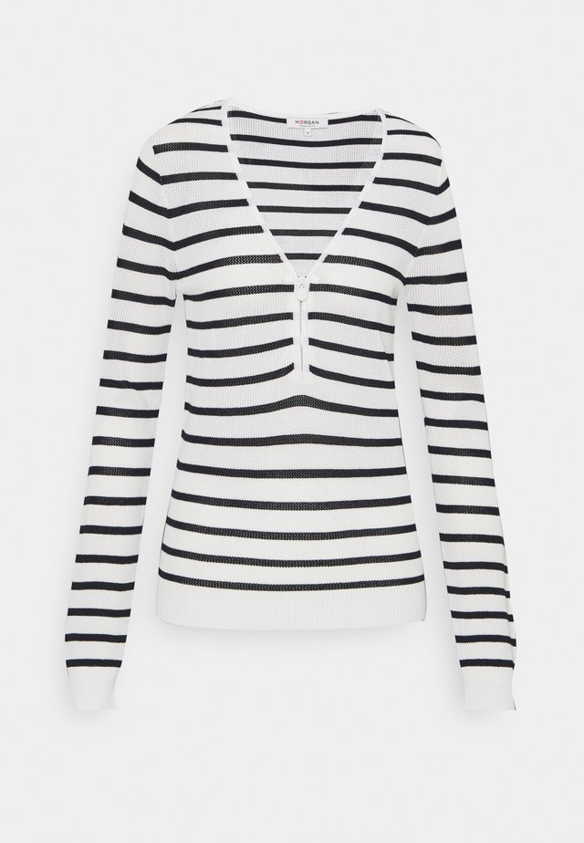 Sweter - off white/marine