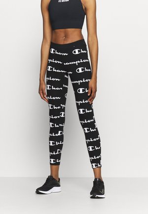 7/8 LEGGINGS - Tights - black/white