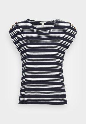 BUTTON - Print T-shirt - navy