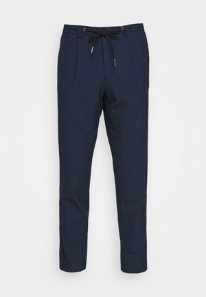 SLHSLIMTAPE MADLEN PIN PANTS - Bukse - dark blue