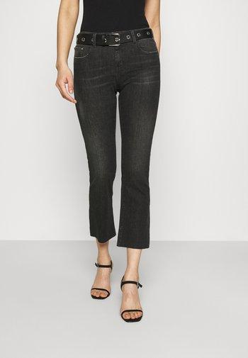 FAABY CROP PANTS - Bootcut jeans - dark grey
