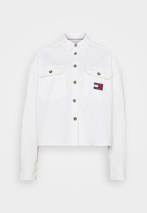CROPPED UTILITY - Button-down blouse - white