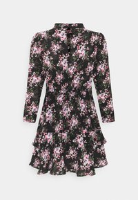 Dorothy Perkins Petite - MINI TIERRED HIGH NECK DRESS - Day dress - pink - 1