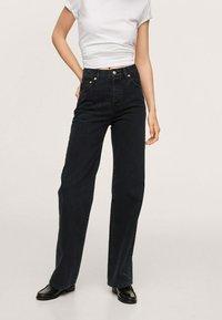 Mango - Straight leg jeans - black denim - 0