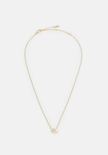 EXCLUSIVE CARDED LOGO PENDANT - Necklace - gold-coloured