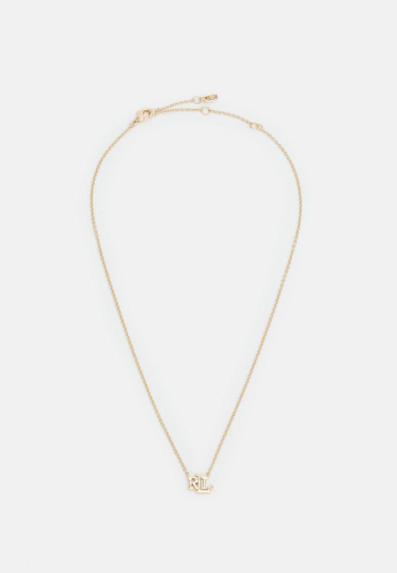 Lauren Ralph Lauren - EXCLUSIVE CARDED LOGO PENDANT - Necklace - gold-coloured