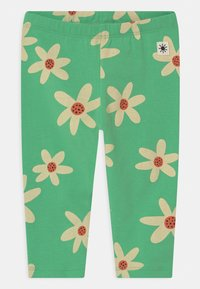Lindex - FLOWER - Leggings - Trousers - green - 0