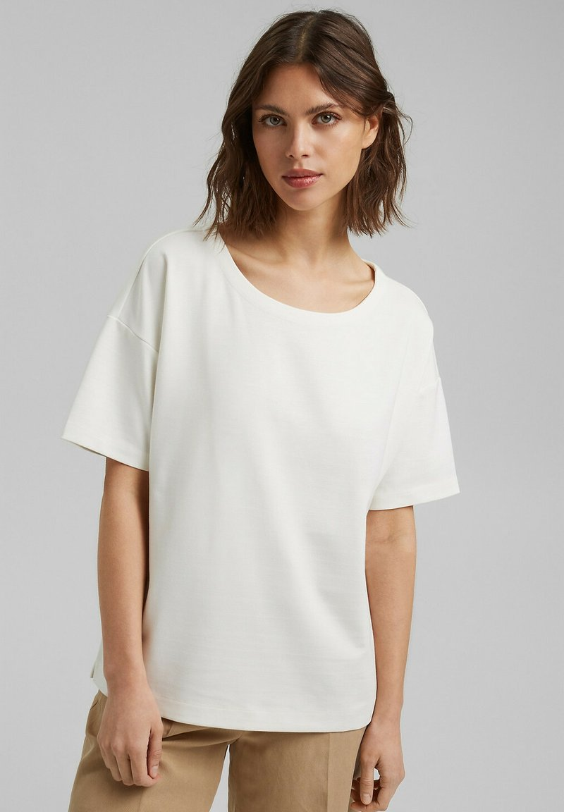 Esprit Collection - Basic T-shirt - off white