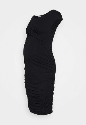 CROSS MY HEART DRESS - Shift dress - black