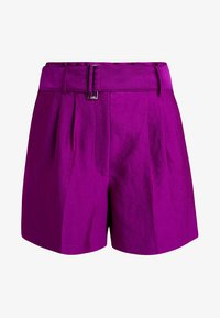 PAPERBAGWAIST BELTED - Shorts - rich magenta