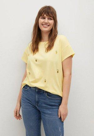 EASYLUX - Print T-shirt - pastellgelb