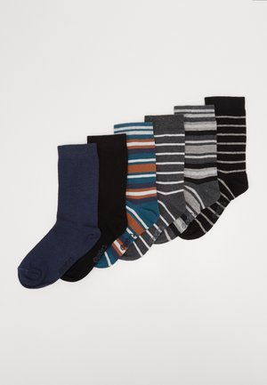 KIDS SOCKS STRIPES 6 PACK - Ponožky - blau/schwarz
