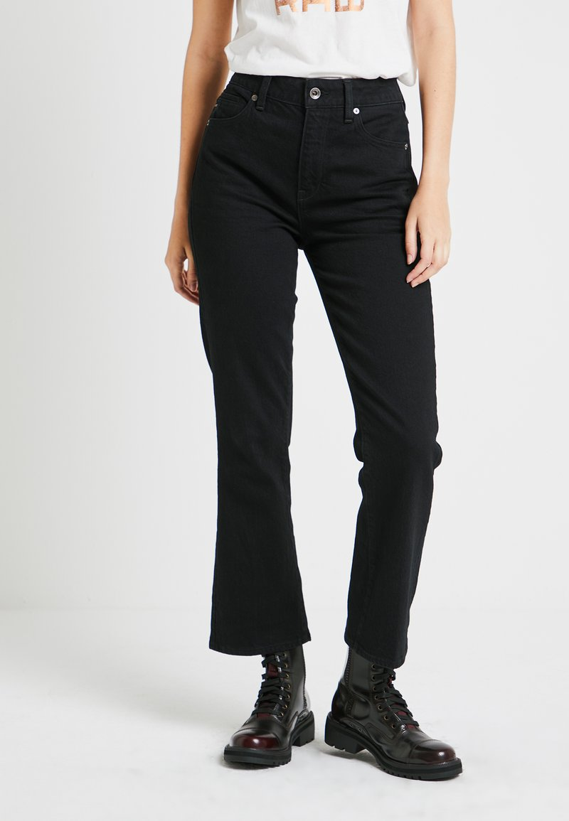 G-Star - CODAM HIGH KICK 7/8 - Flared jeans - black