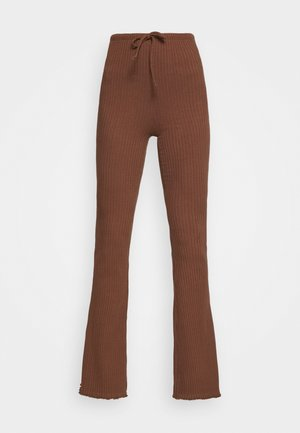 WIDE LEG - Trousers - chocolate