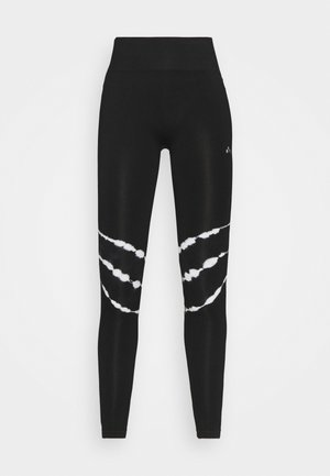 ONPMIKO CIR - Leggings - black/white