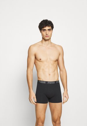 BASIC 4 PACK - Boxer shorts - black/grey melange
