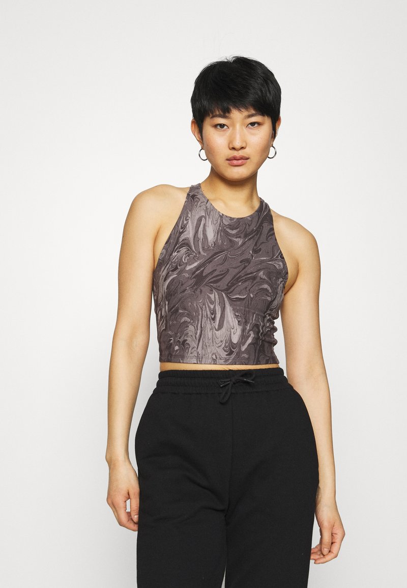 Abercrombie & Fitch - BARE CROSS BACK - Top - marble