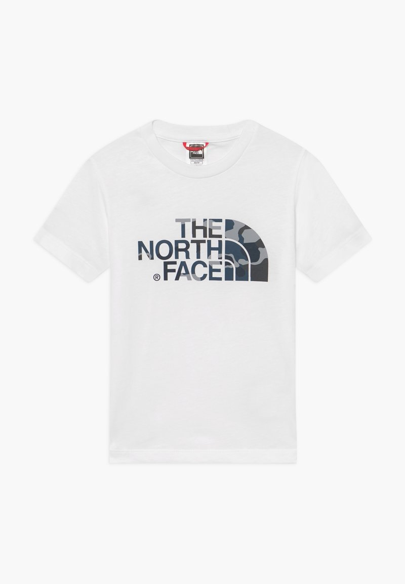 The North Face - YOUTH EASY UNISEX - Print T-shirt - white/mottled teal