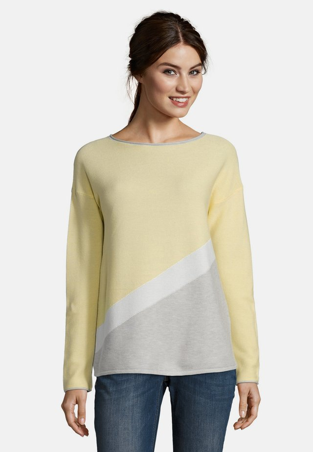MIT COLOR BLOCKING - Jumper - yellow/silver