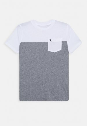 NOVELTY BASIC - T-shirt imprimé - white/grey