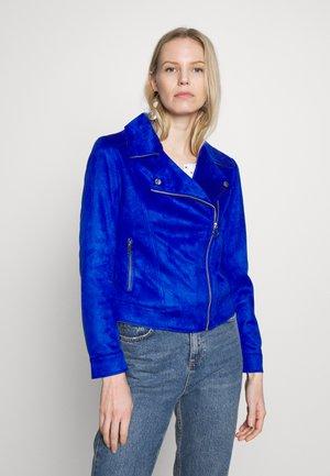Faux leather jacket - cobalt blue