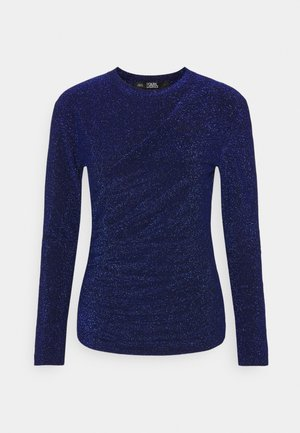 DRAPPED - Long sleeved top - blue