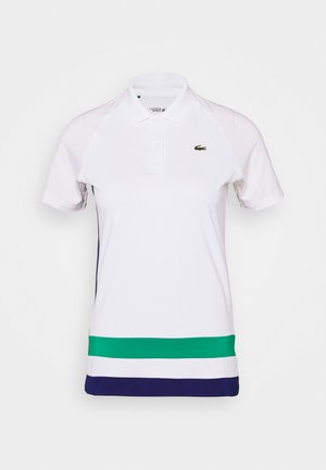 TENNIS - Sports shirt - white/cosmic/greenfinch/black
