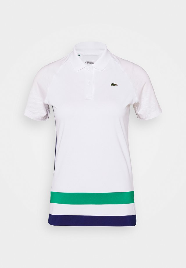 TENNIS - T-shirt de sport - white/cosmic/greenfinch/black