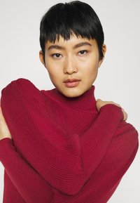 Farm Rio - PUFF SLEEVE TURTLENECK - Jumper - burgundy - 3